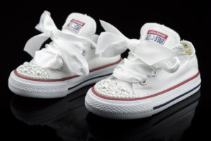 Handmade Converse Mini Swarovski Pearls Wedding by Mark Leone ®