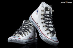 Handmade Converse All Star High Top Studded Leather Tongue Vintage by Mark Leone ®