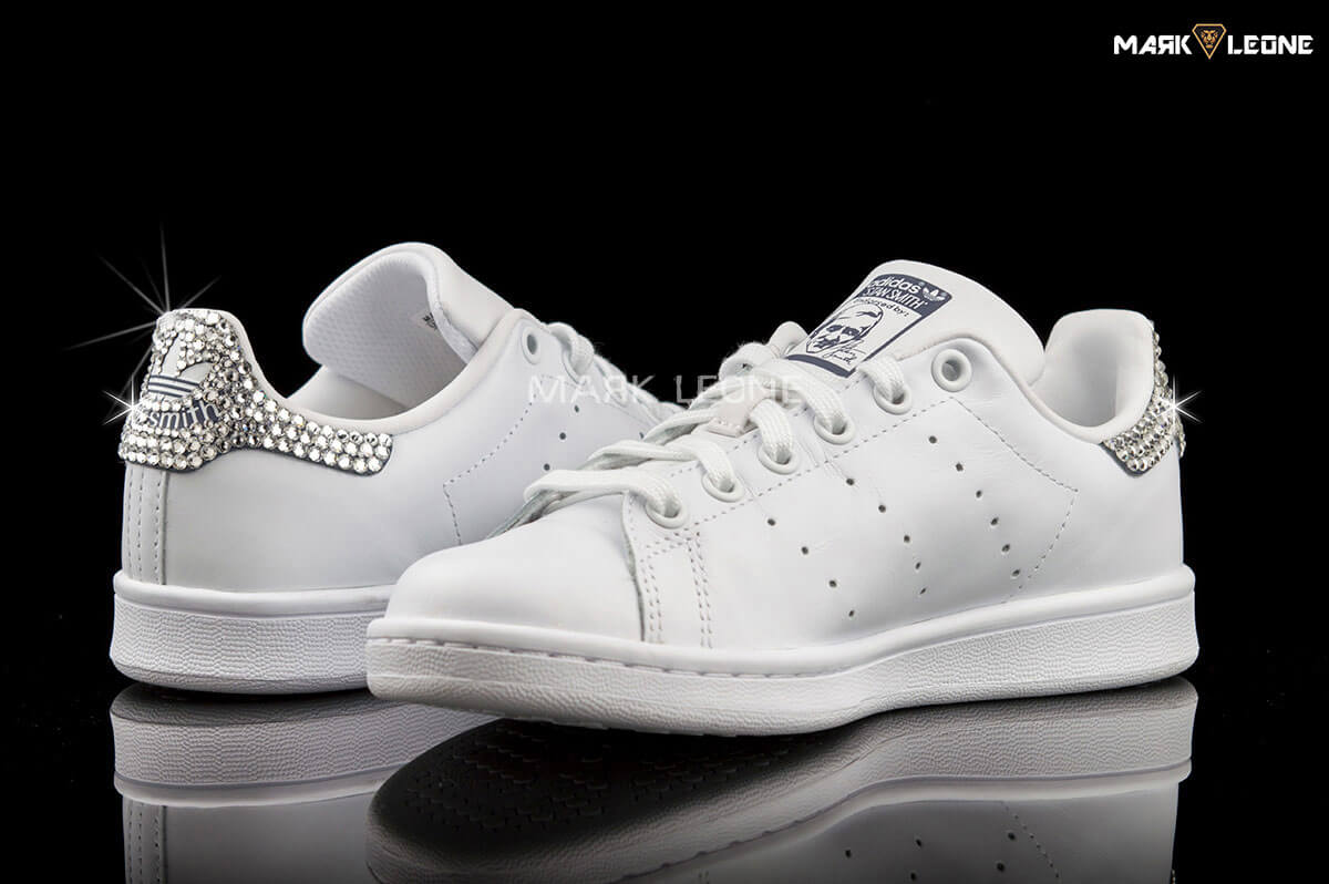 Handmade Adidas Stan Smith Original Swarovski Crystal by Mark Leone ®