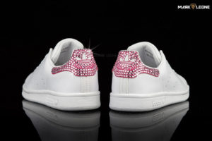 Handmade Adidas Stan Smith Swarovski Crystal Fuchsia by Mark Leone ®