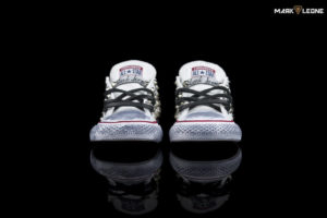 Handmade Converse All Star Low White Studded by Mark Leone ®