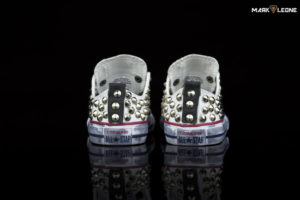 made Converse All Star Low White Studded by Mark Leone ®