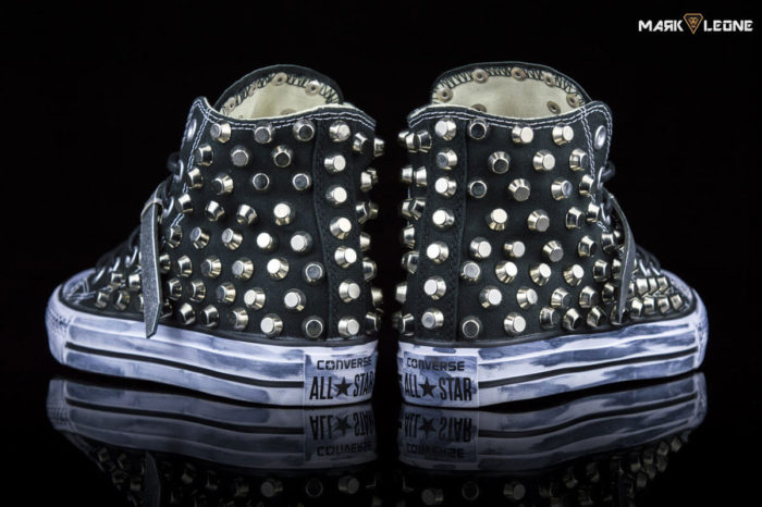 Handmade Converse Chuck Full Studded Leather Tongue by Mark Leone ®