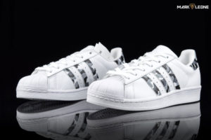 Hand Painted Adidas Super Star Camo by Mark Leone ®