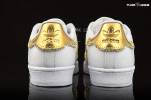 Handmade Adidas Super Star Swarovski Crystal Element by Mark Leone ®