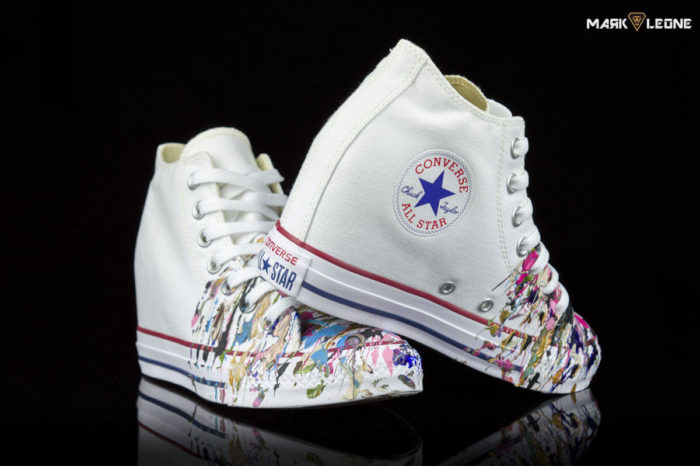 Handmade Converse All Star Chuck Taylor Lux Mid Painting Colour by Mark Leone ®