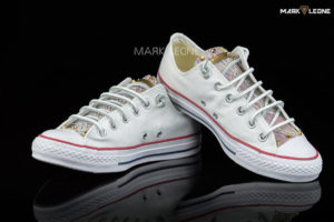 Handmade Converse All Star High Studs Gold Leather by Mark Leone ®