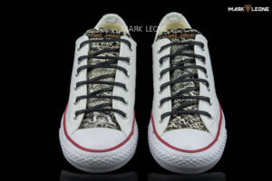 Handmade Converse All Star Low Top Leather Tongue Studs by Mark Leone ®