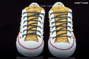 Handmade Converse All Star Snakeskin Studded Low by Mark Leone ®