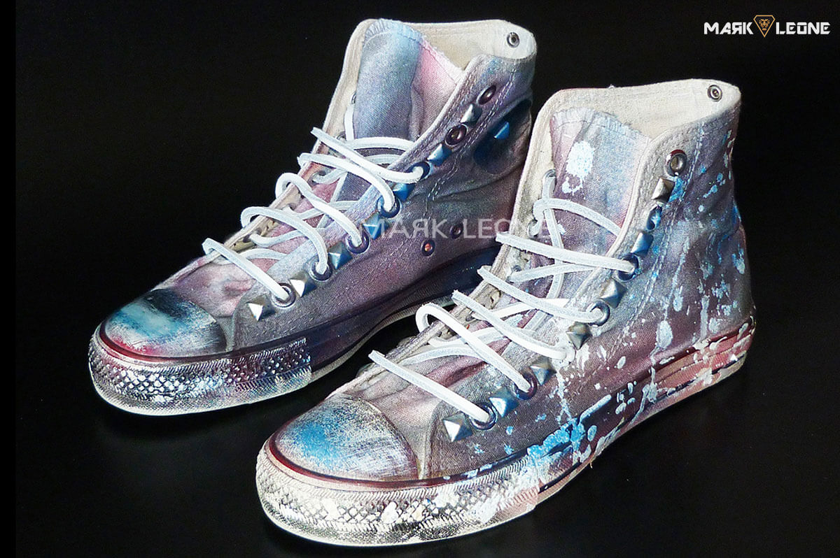a0d918e68d7b Handmade Converse All Star Splash Painting Leather Laces by Mark Leone ®