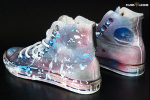 Handmade Converse All Star Splash Painting Leather Laces by Mark Leone ®