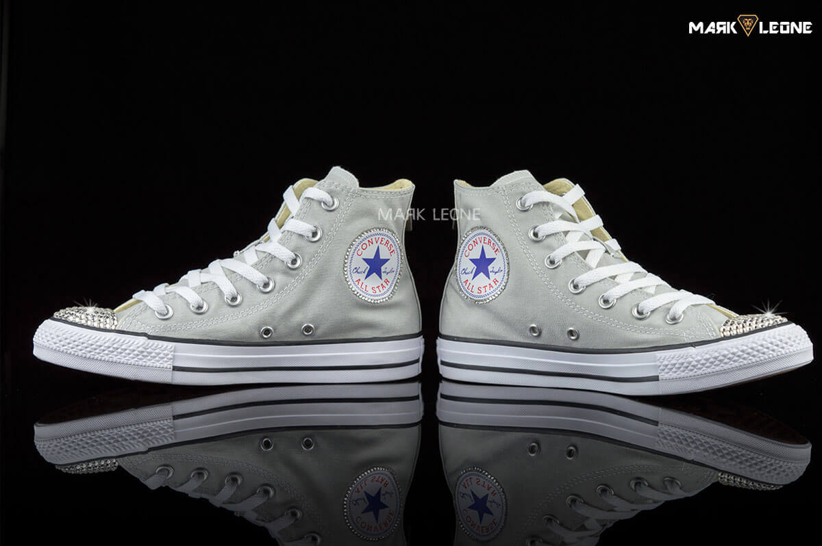 d21e0f98d8d6 Handmade Converse Swarovski Crystal Element Grey by Mark Leone ®
