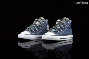 Handmade Converse Chuck Blue Navy Leather Tongue by Mark Leone ®