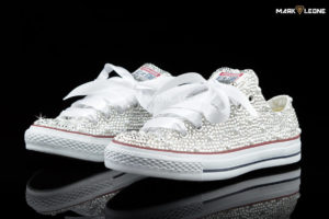 Handmade Converse Full Swarovski Crystal Wedding Pearls by Mark Leone ®