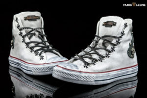 Handmade Converse All Star Leather Skulls by Mark Leone ®