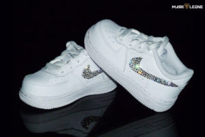 Handmade Nike Air Force 1 Kids Swarovski by Mark Leone ®