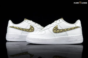 Handmade Nike Air Force 1 Leather Leopard Studs by Mark Leone ®
