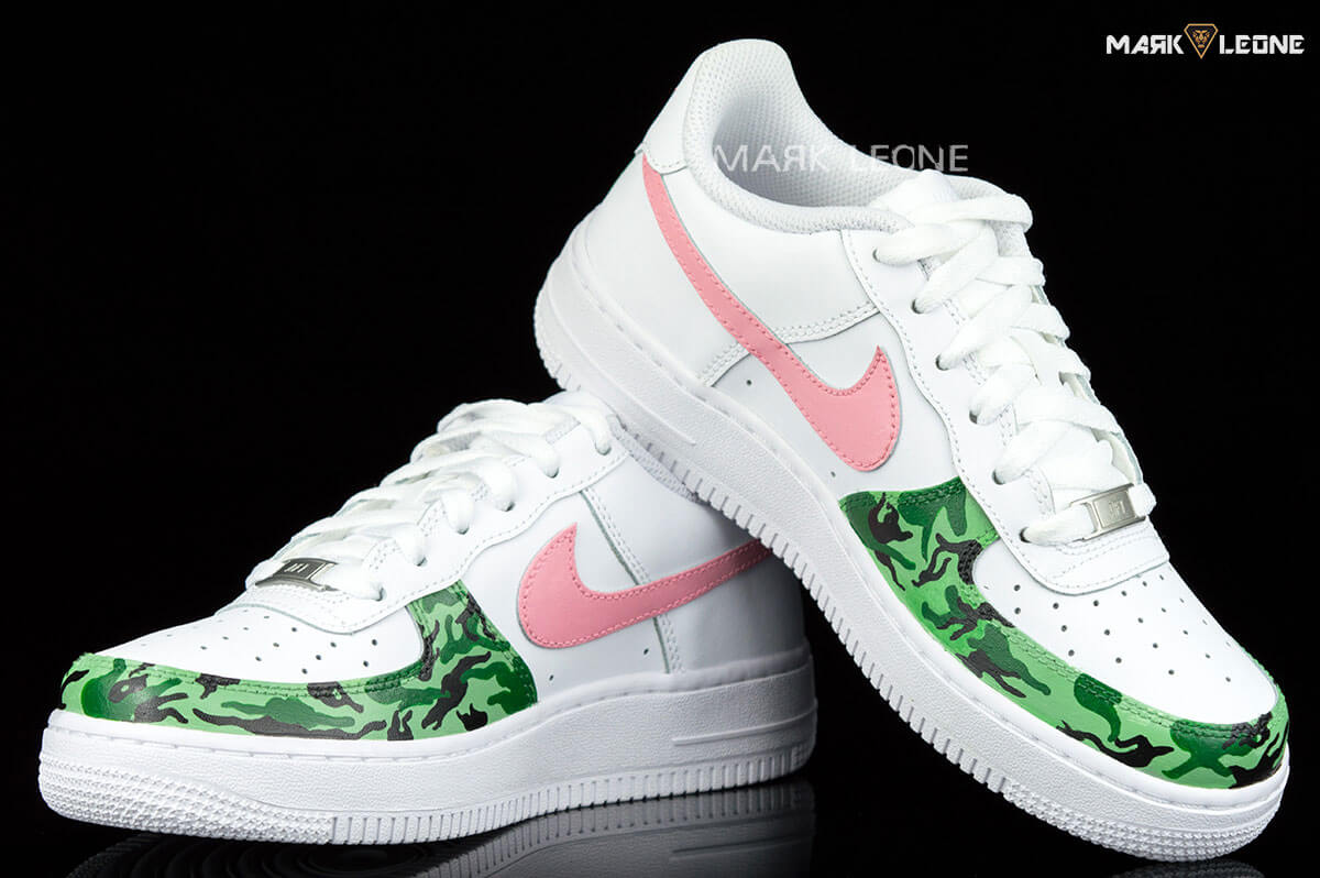 new products cd083 9cba3 Handmade Painting Nike Air Force 1 Low Army by Mark Leone ®