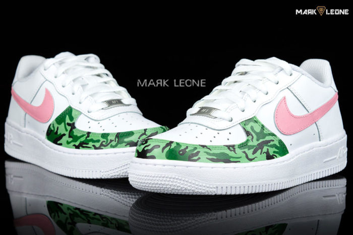 Handmade Painting Nike Air Force 1 Low Army by Mark Leone ®
