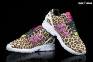 Custom Adidas ZX Flux Torsion Leaopard Swarovski Crystal Element by Mark Leone ®