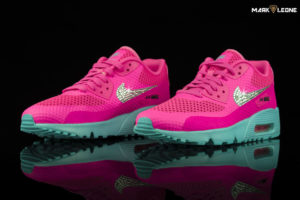 Custom Nike Air Max 90 Swarovski Crystal Element Breeze GS by Mark Leone ®