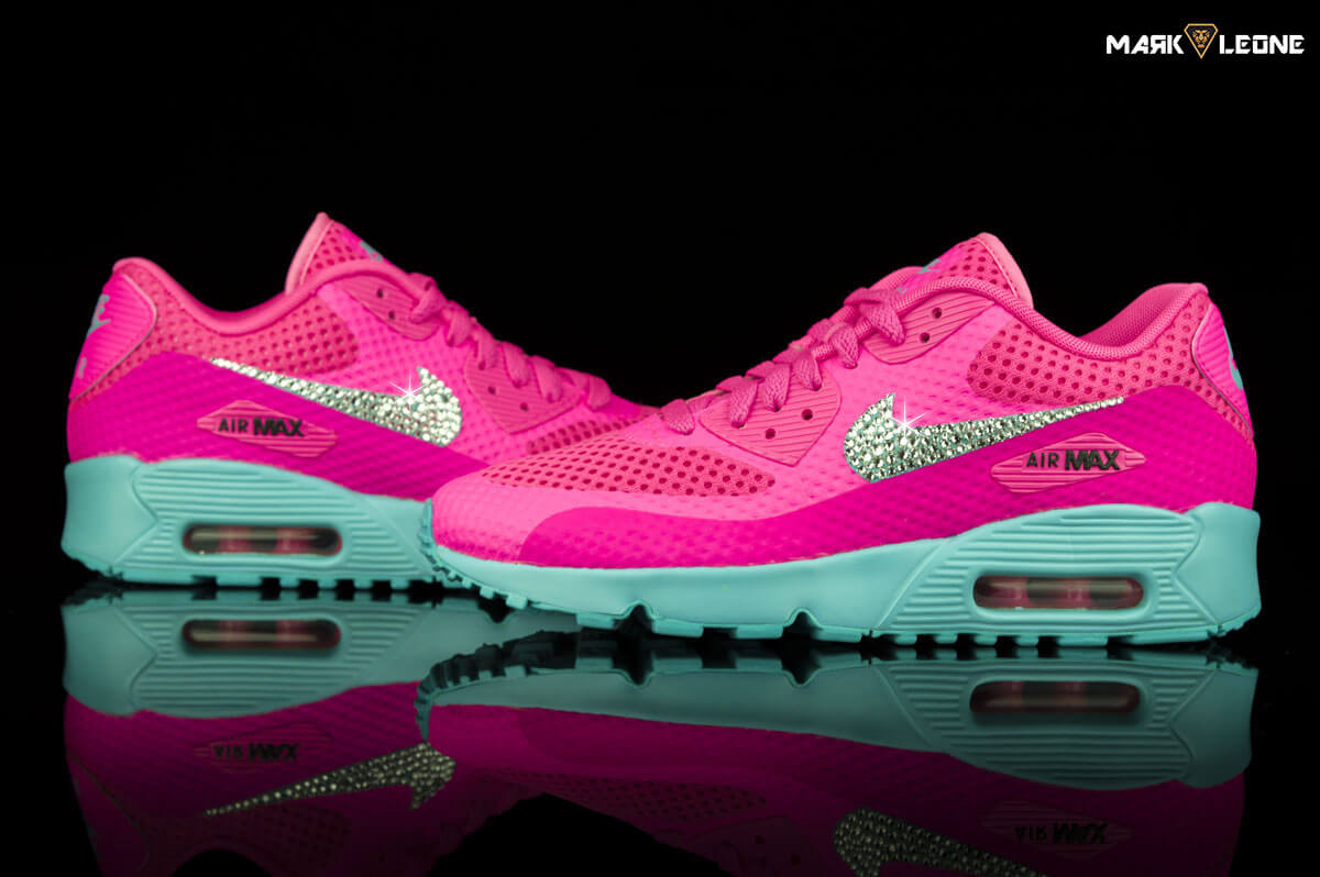 1f178a501db Custom Nike Air Max 90 Swarovski Crystal Element Breeze GS by Mark Leone ®