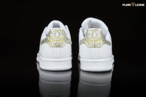 Customade Adidas Stan Smith Gold Swarovski Crystal by Mark Leone ®