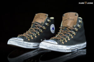 Customade Converse Chuck Taylor High Top Leather Spikes by Mark Leone ®