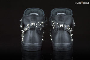 Customade Leather Converse All Star Studded Skulls Sneakers by Mark Leone ®