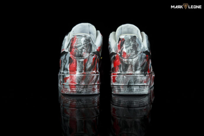 Customade Nike Low Top Air Force 1 Painting Spikes by Mark Leone ®