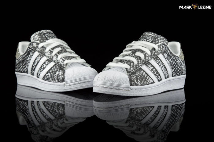 Handmade Adidas Stan Smith Printer Snake Swarovski Crystal by Mark Leone ®