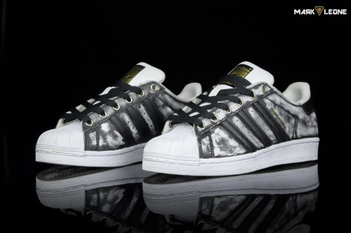 Adidas Super Star Hand-Painted Vintage by Mark Leone ®