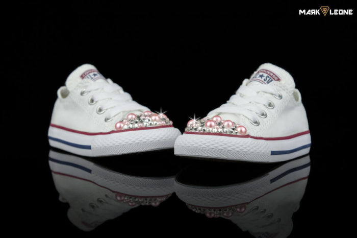 Handmade Converse All Star Mini Swarovski Pink Pearls by Mark Leone ®
