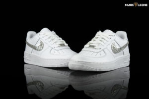Handmade Nike Air Force 1 Low Swarovski Crystal Element by Mark Leone ®