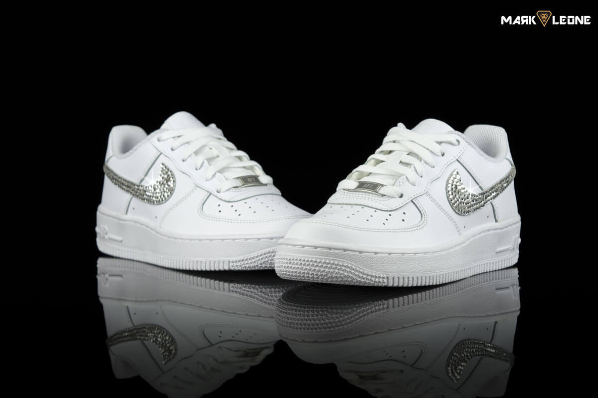Handmade Nike Air Force 1 Low Swarovski Crystal Element