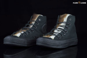 Customade Converse High Top Original Leather Pony Skin Tongue