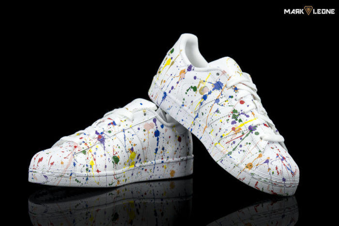 Χειροποίητο Παπούτσι Adidas Super Star Painting Colour By Mark Leone