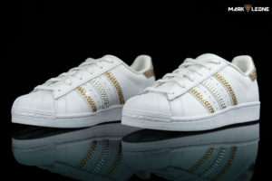 Χειροποίητο παπούτσι Custom Adidas Super Star Swarovski Crystal