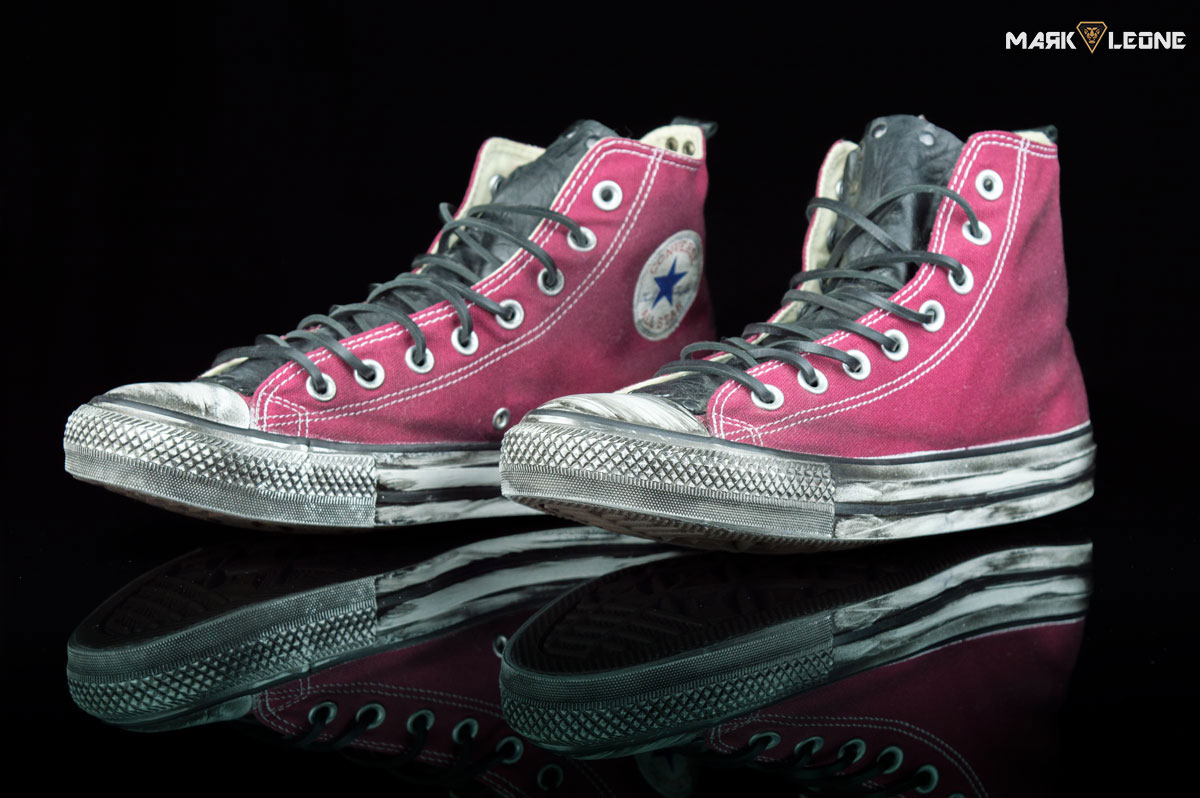 ML-85. 250.00€. Handmade shoes by Mark Leone ®  Converse All Star Chuck  Taylor High Top  Leather Tongue ... b1cf2eee0